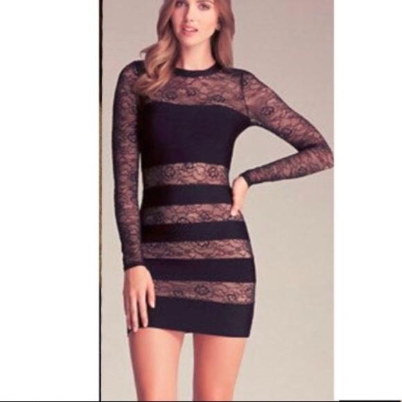 17c3cf026d5 bebe Dresses   Skirts - Bebe tan and black mini dress